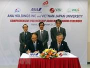 Universidad Vietnam- Japón entabla cooperación con grupo nipón en formación de estudiantes