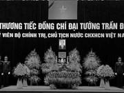Inician acto fúnebre en homenaje a presidente vietnamita Tran Dai Quang