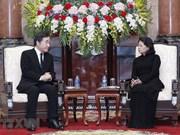 Presidenta interina de Vietnam recibe al primer ministro surcoreano