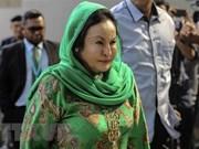 Interrogan a esposa del expremier Najib Razak por supuestos vínculos con caso de corrupción