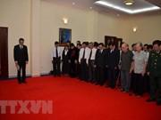 Embajadas de Vietnam en países sudesteasiáticos rinden homenaje póstumo a presidente Tran Dai Quang