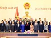 Presidenta del Parlamento de Vietnam dialoga con embajadores nacionales en extranjero