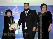 """Primera vietnamita honrada con premio internacional sobre """"Nación inteligente"""""""