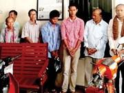 Camboya acusa a ocho individuos por organizar grupo armado y traficar armas de fuego