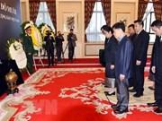 Rinden tributo al exsecretario general del Partido Comunista de Vietnam en China