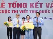 Estudiante vietnamita gana tercer premio del concurso epistolar de UPU