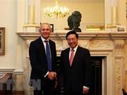 Vietnam y Reino Unido emiten declaración conjunta sobre fortalecimiento nexos comerciales