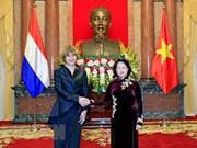 Presidenta interina de Vietnam recibe a embajadores de Países Bajos, Bélgica y Dinamarca