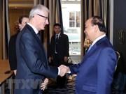 Premier de Vietnam continúa sus actividades en Bélgica