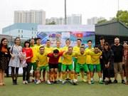 Concurso amistoso de fútbol contribuye a enriquecer lazos Vietnam-Australia