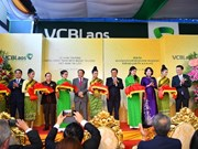 Inauguran en Laos primera filial del banco vietnamita Vietcombank