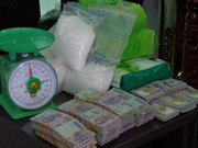 Guardafronteras vietnamitas detienen a individuos con kilogramos de metanfetamina