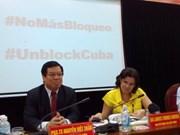 Exigen en Vietnam fin del bloqueo de Estados Unidos contra Cuba