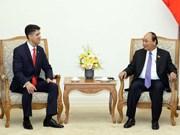 Primer ministro de Vietnam recibe a ejecutivo de Coca Cola