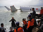 Detectan posición de dos cajas negras del avión indonesio estrellado JT-610