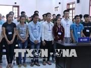 Mantienen sentencias a acusados de provocar disturbio social en provincia vietnamita de Dong Nai