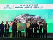Empresa vietnamita entrega camiones recolectores de basura ecológicos a localidades sureñas