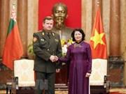 Vicepresidenta de Vietnam muestra respaldo a cooperación militar con Belarús