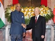 Ratifican Vietnam y la India compromiso con fortalecimiento de nexos bilaterales