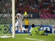 Medios de prensa asiáticos evalúan altamente la defensa del equipo de fútbol vietnamita