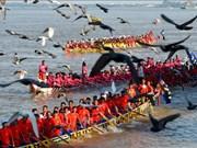 Camboya celebra Festival del Agua con regata de botes