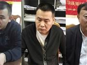 Policía de Vietnam arresta a tres chinos buscados por detención ilegal de personas