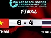 Vietnam se corona en el campeonato sudesteasiático de fútbol playa
