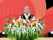 Premier vietnamita participa en el Festival de Cultura de Gongs 2018