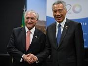 Brasil y Singapur por ampliar relaciones comerciales