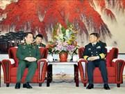 Delegación del Ejército Popular de Vietnam visita China