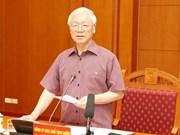 Se reúne Subcomité de documentos del XIII Congreso Nacional del Partido Comunista de Vietnam