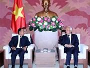 Vicepresidente del Parlamento de Vietnam recibe al ministro de Justicia de Laos