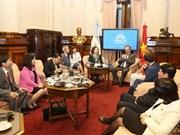 Vietnam y Argentina intensifican nexos parlamentarios