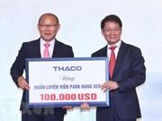Entrenador Park Hang- seo dona 100 mil dólares al desarrollo del fútbol vietnamita