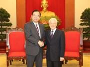 Máximo dirigente político de Vietnam recibe al líder del Partido Comunista de Japón