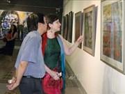 Celebran exposición de pintura contemporánea Hungría - Vietnam