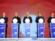 Premier vietnamita inaugura importantes obras infraestructurales en Quang Ninh
