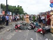 Aceleran en Vietnam investigación de accidente de tráfico que mata a cuatro personas