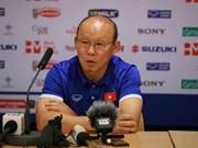 Entrenador Park Hang-seo adelanta meta de la selección de Vietnam en Copa Asiática