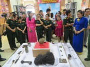Efectúan en ciudad vietnamita de Can Tho exposición sobre la guerra nacional en frontera suroeste