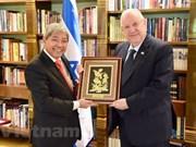 Presidente de Israel reitera importancia que concede su país a nexos con Vietnam
