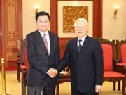 Máximo dirigente vietnamita propone mayor cooperación para promover nexos con Laos