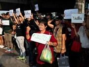 Activistas tailandeses protestan debido a posible retraso de elecciones generales