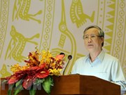 Exhorta al Frente de Patria de Vietnam a impulsar su papel en movilización de masas