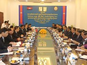 Altos dirigentes camboyanos reciben a delegación partidista vietnamita