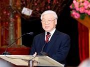 Logros de 2018 crean base sólida para desarrollo de Vietnam, afirma máximo dirigente político