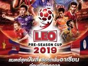 Compite equipo de fútbol vietnamita en pretemporada de Copa Leo de Tailandia