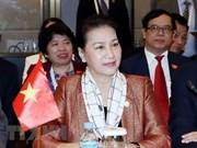 Presidenta parlamentaria de Vietnam finaliza su participación en APPF-27 en Camboya