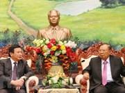 Solicita Laos a Vietnam intensificar apoyo a los estudios teóricos y científicos