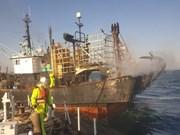 Un tripulante vietnamita muerto tras el incendio de un barco en Corea del Sur